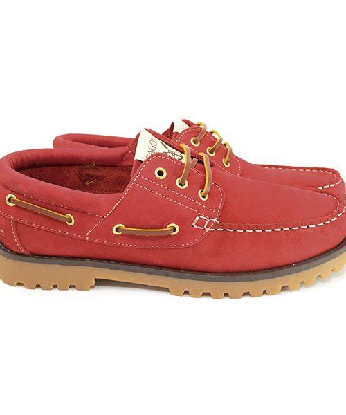 Rouge Chaussures bateau Sagone Lui/Elle